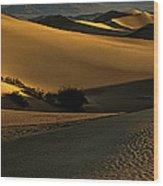 Mesquite Flat Sand Dunes Wood Print