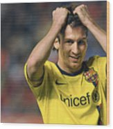 Messi 2 Wood Print