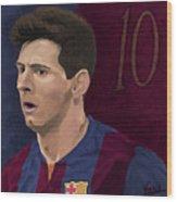 Messi-digital Oil Painting  Wood Print