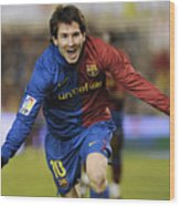 Messi 1 Wood Print