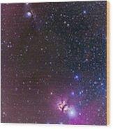 Messier 78 & Horsehead Nebula In Orion Wood Print