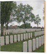 Messines Ridge British Cemetery Wood Print
