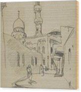 met uitzicht op de Al-Rifai moskee Wood Print