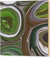 Metal Abstract Wood Print by Linnea Tober