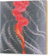 Metal Art Print On Aluminum - Koi Fish Art On Metal - Abstract Fine Art Print - Koi Fish Breaking Fr Wood Print