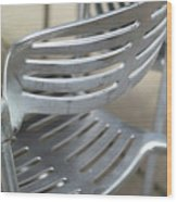 Metal Chair Wood Print