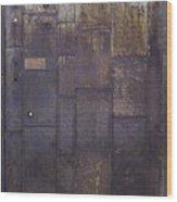 Metal Door Wood Print