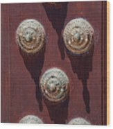 Metal Door Ornaments Wood Print