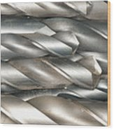 Metal Drill Bits Wood Print