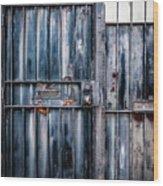 Metal Gates Wood Print