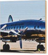 Metal Plane Wood Print