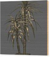 Metal Plant In Pot 12 Wood Print