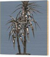 Metal Plant In Pot 14 Wood Print