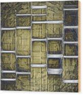 Metallic Amber Wood Print