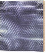 Metallic Cross Pattern  Wood Print