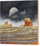 Metallic Desert Wood Print