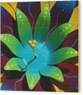 Metallic Flora Wood Print