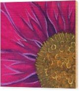 Metallic Flowers Wood Print