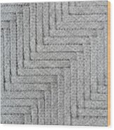Metallic Grey Rope Weaved Pattern Wood Print