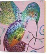 Metallic Hummingbird  Wood Print