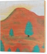 Metallic Landscape Wood Print