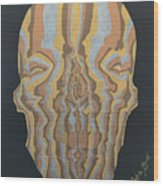Metallic Skull Wood Print