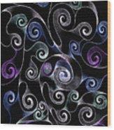 Metallic Swirls Wood Print