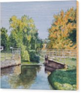 Metamora Canal Wood Print