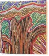 Metamorphosis Of The Great Tree Into Petrified Wood Wood Print