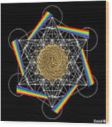 Metatron's Rainbow Healing Vortex Wood Print