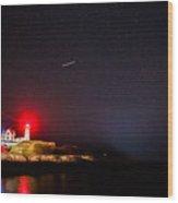 Meteor Over Nubble Wood Print