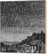 Meteor Shower, 1833 Wood Print by Granger