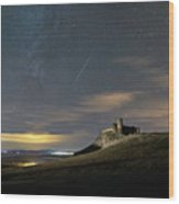 Meteors Above The Fortress Wood Print