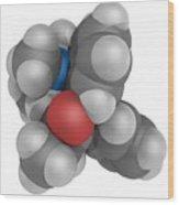 Methadone Molecule Wood Print by Laguna Design