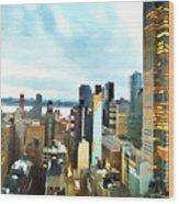 Metro Skyline Wood Print