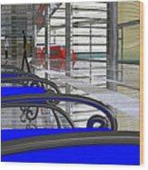 Metro West Station Wood Print