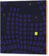 Metropolis At Night Wood Print