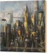 Metropolis Wood Print by Philip Straub