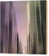 Metropolis Sunset Wood Print