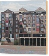 Metropolitan Wharf Wood Print