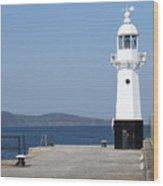 Mevagissey Lighthouse Wood Print