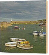 Mevagissey Outer Harbour Wood Print