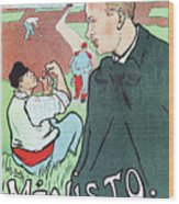 Mevisto In The Country French Theatre Ad Wood Print