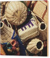 Mexican Baskets Wood Print