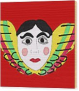 Mexican Cherub Wood Print