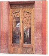 Mexican Doorway 2 Wood Print