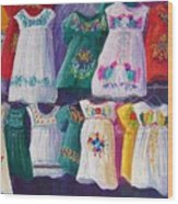 Mexican Dresses Wood Print