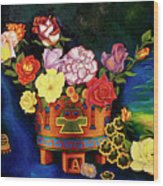 Mexican Flowers Wood Print