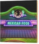 Mexican Food Wood Print