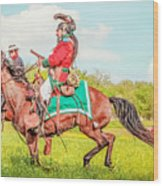 Mexican Horse Soldiers Wood Print